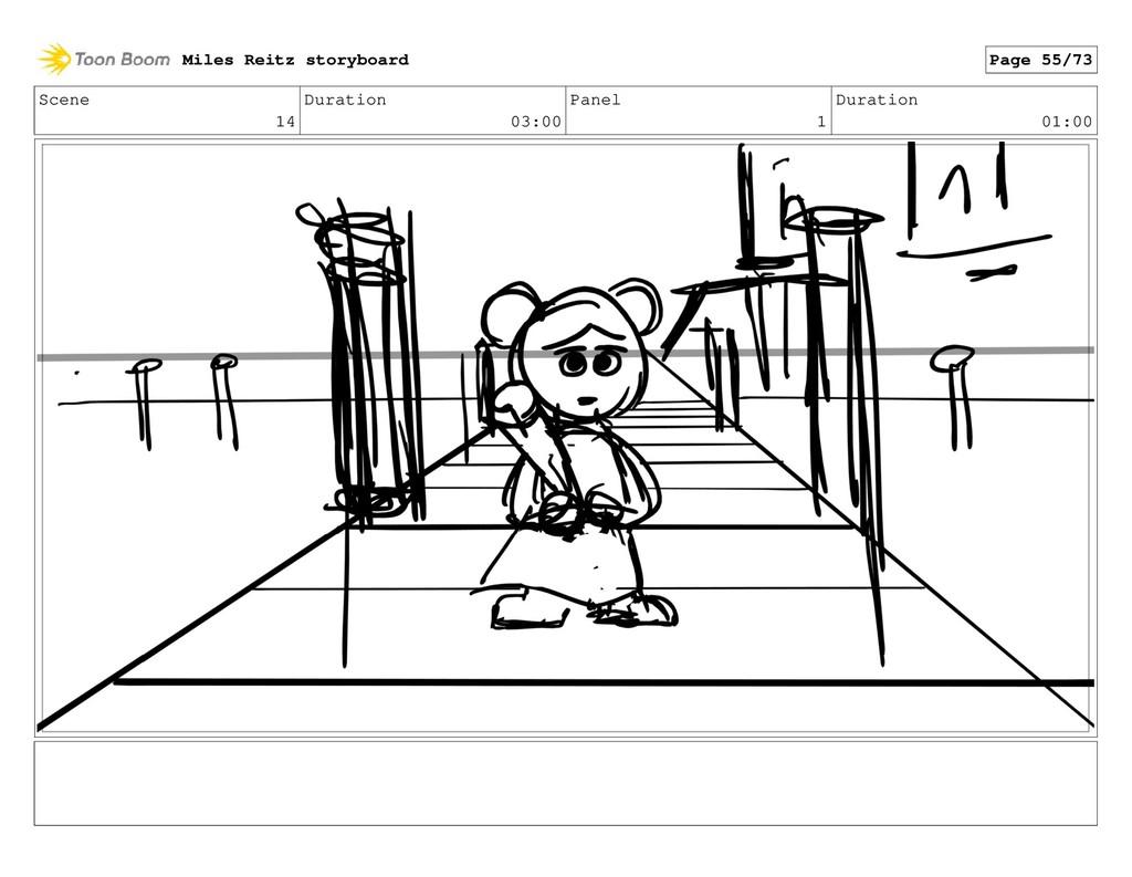 Scene 14 Duration 03:00 Panel 1 Duration 01:00 ...