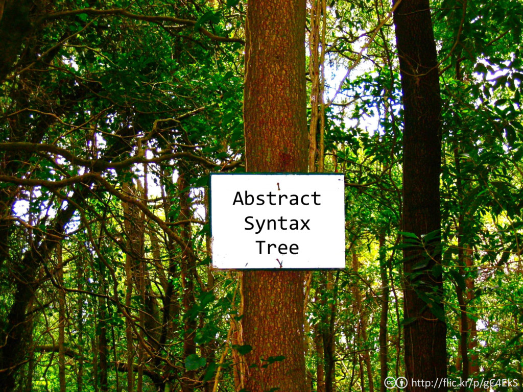 Abstract Syntax Tree http://flic.kr/p/gC4EkS cb