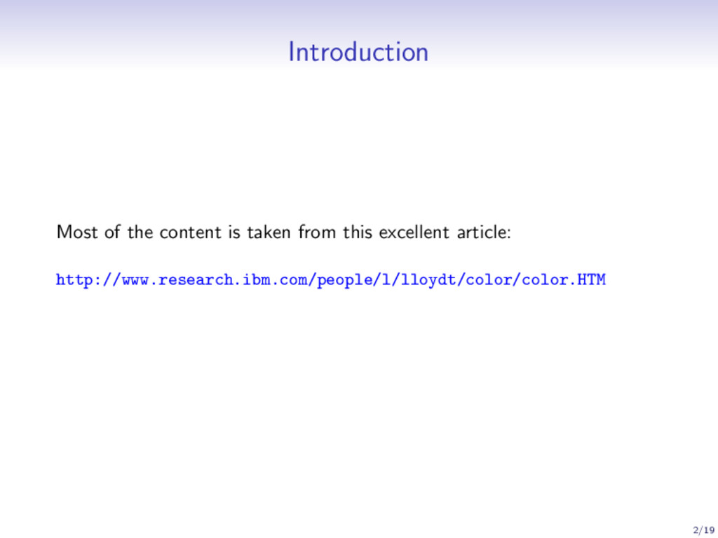 Introduction Most of the content is taken from ...