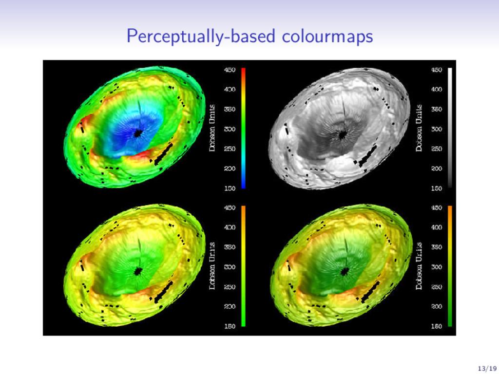 Perceptually-based colourmaps 13/19