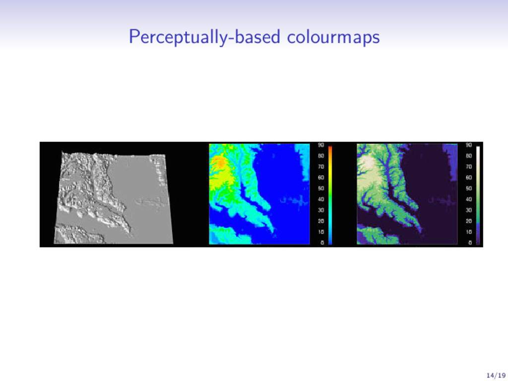 Perceptually-based colourmaps 14/19