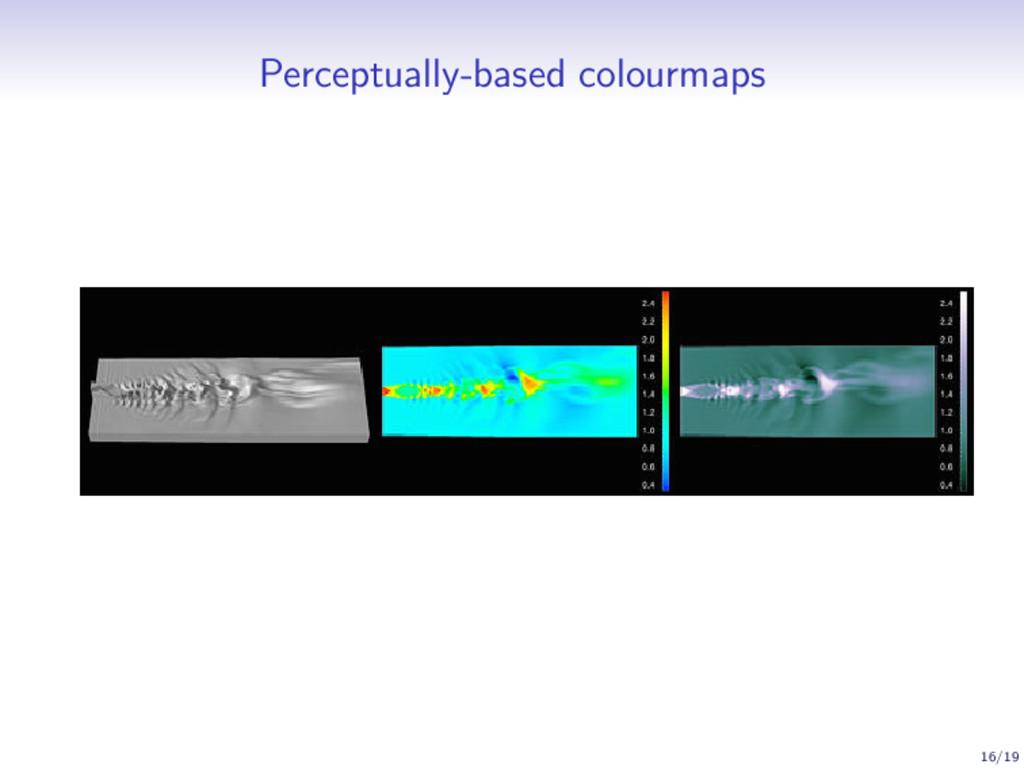 Perceptually-based colourmaps 16/19