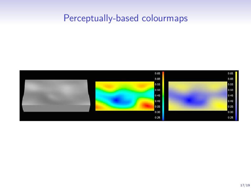 Perceptually-based colourmaps 17/19