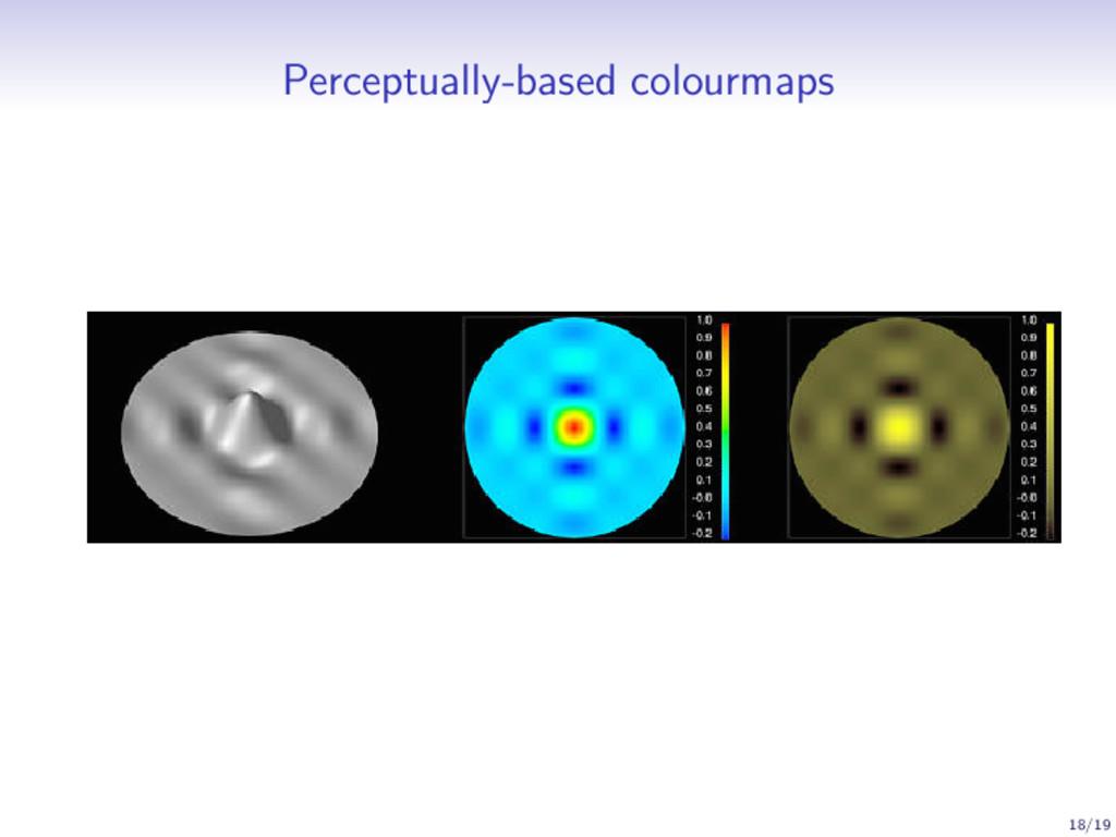Perceptually-based colourmaps 18/19