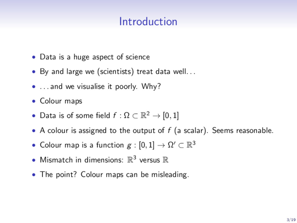 Introduction • Data is a huge aspect of science...