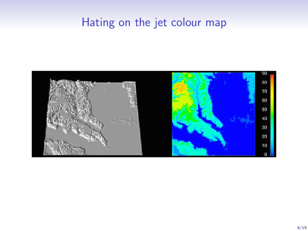 Hating on the jet colour map 6/19