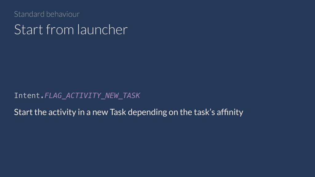 Intent.FLAG_ACTIVITY_NEW_TASK Start the activit...