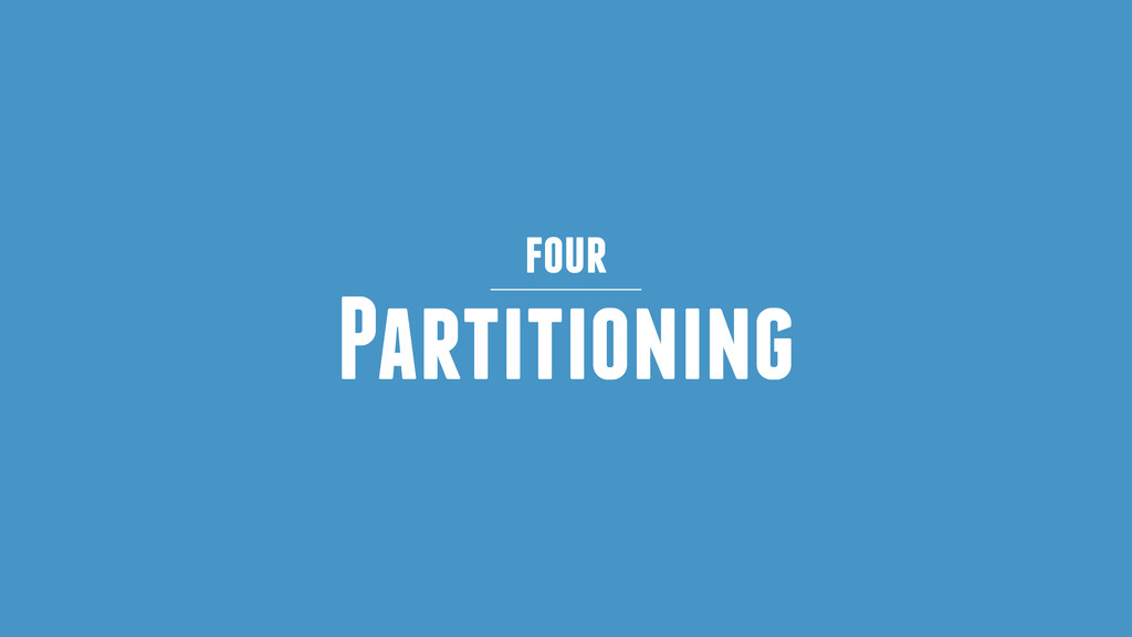 Partitioning four