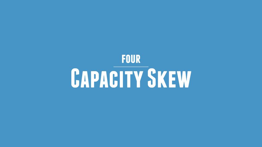 Capacity Skew four