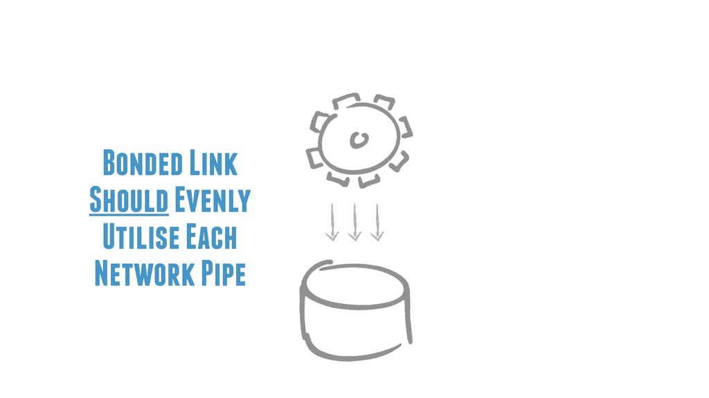 Bonded Link Should Evenly Utilise Each Network ...