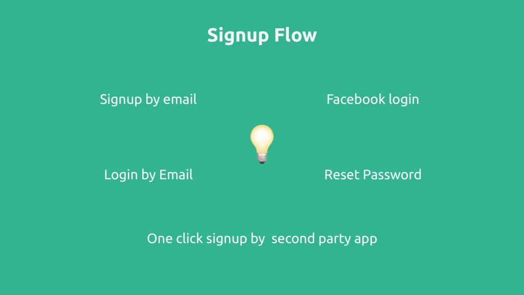 Signup Flow Signup by email Facebook login One ...