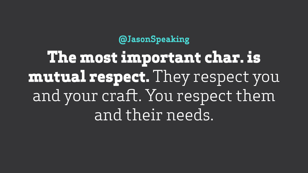 @JasonSpeaking The most important char. is mut...