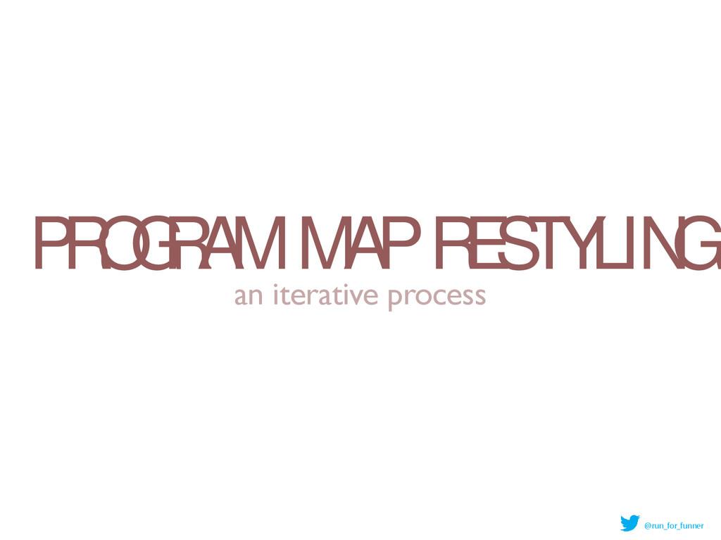 PROGRAM MAP RESTYLING an iterative process @run...