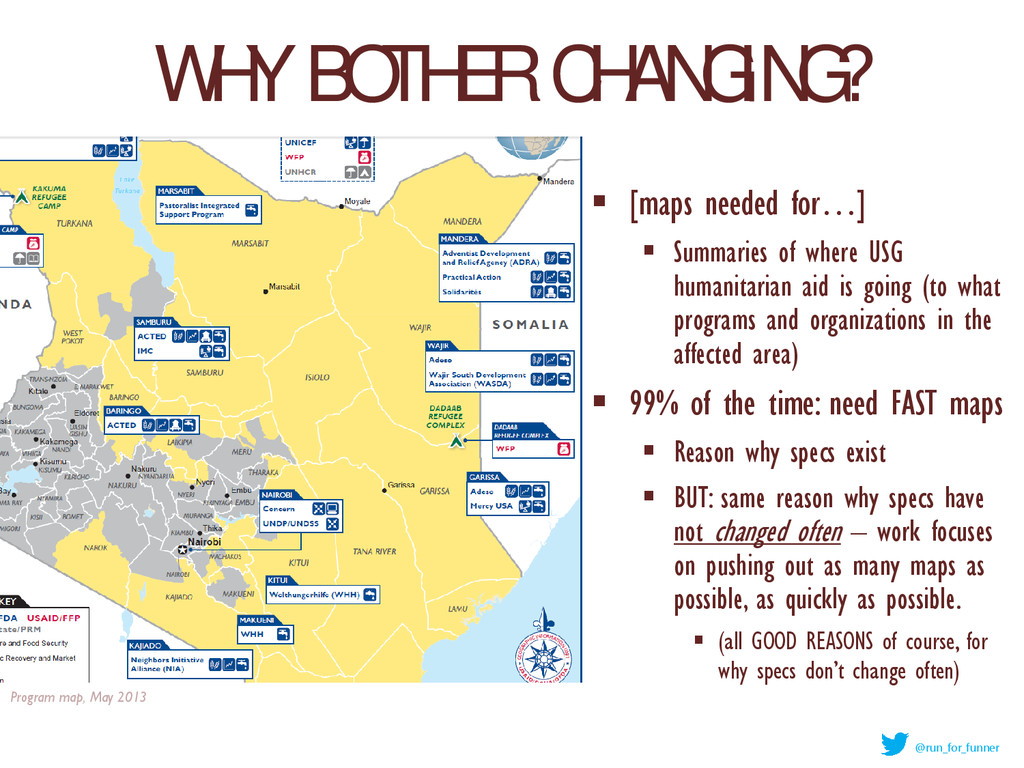 WHY BOTHER CHANGING?  [maps needed for…]  Sum...