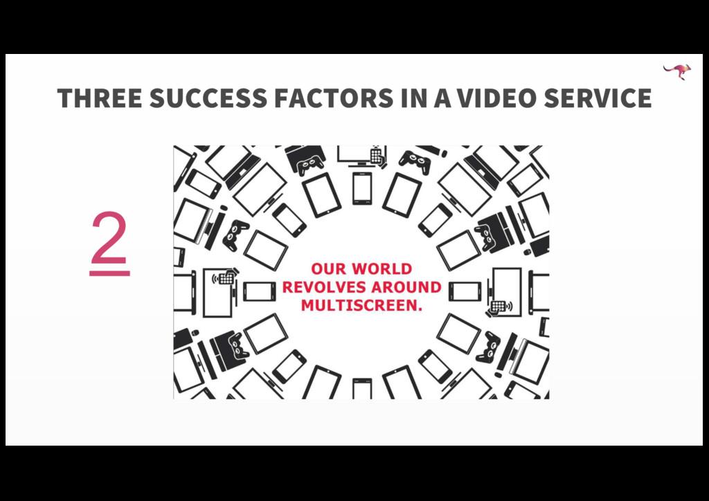 2 THREE SUCCESS FACTORS IN A VIDEO SERVICE