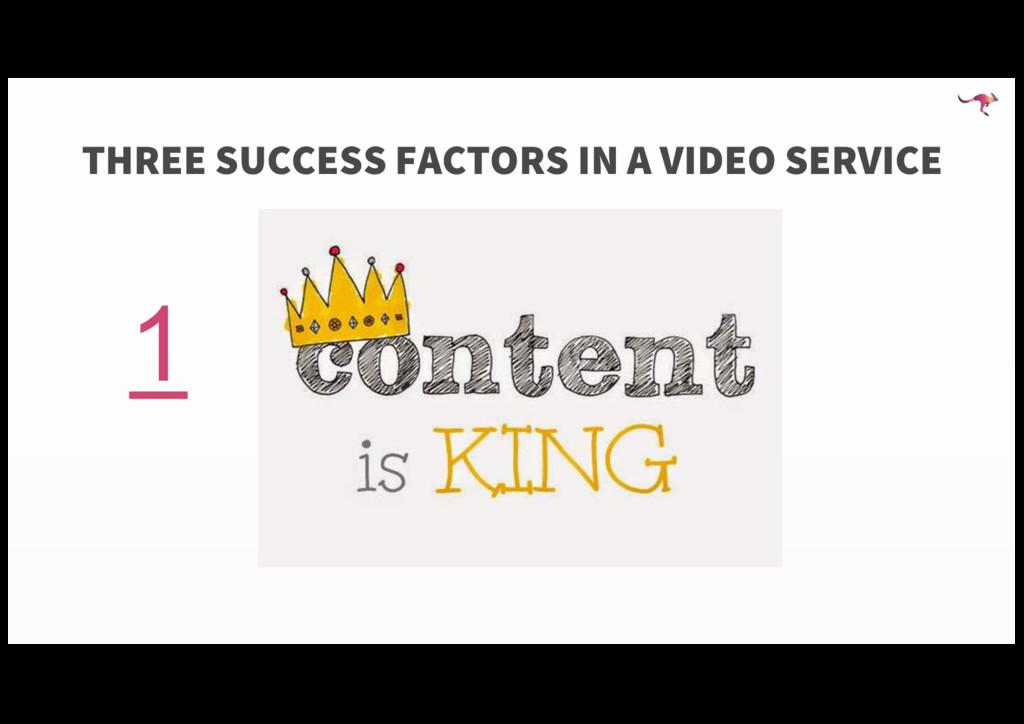 THREE SUCCESS FACTORS IN A VIDEO SERVICE 1