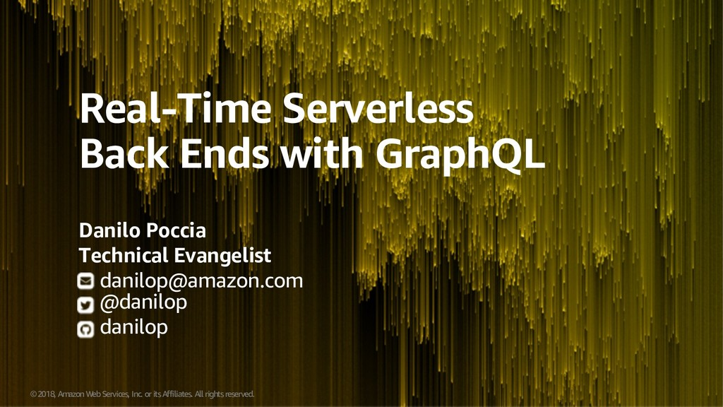 Real-Time Serverless Backends with GraphQL