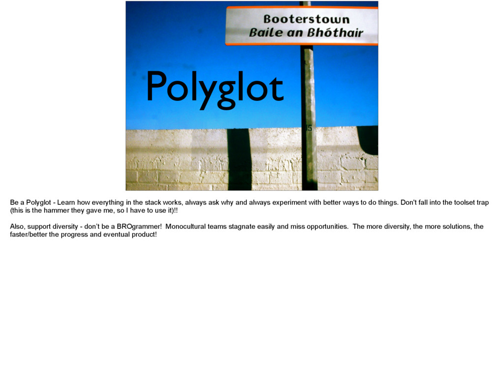 Polyglot Be a Polyglot - Learn how everything i...
