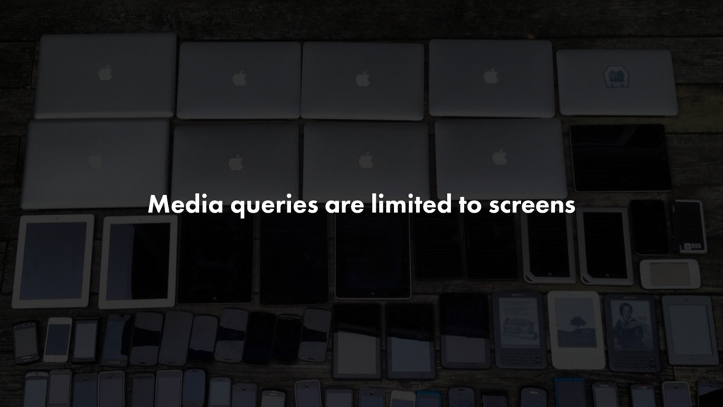 Media queries are limited to screens