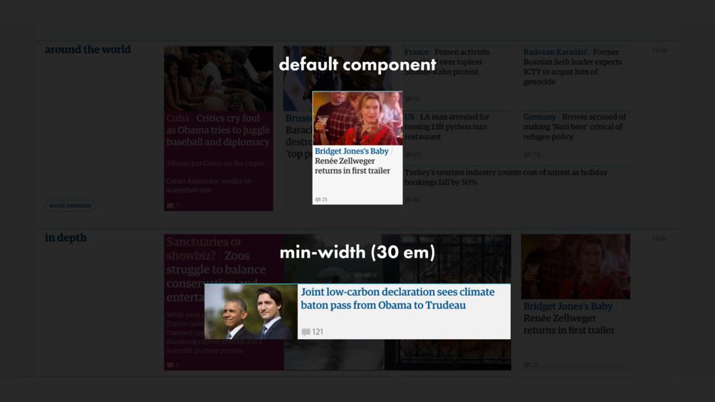 min-width (30 em) default component