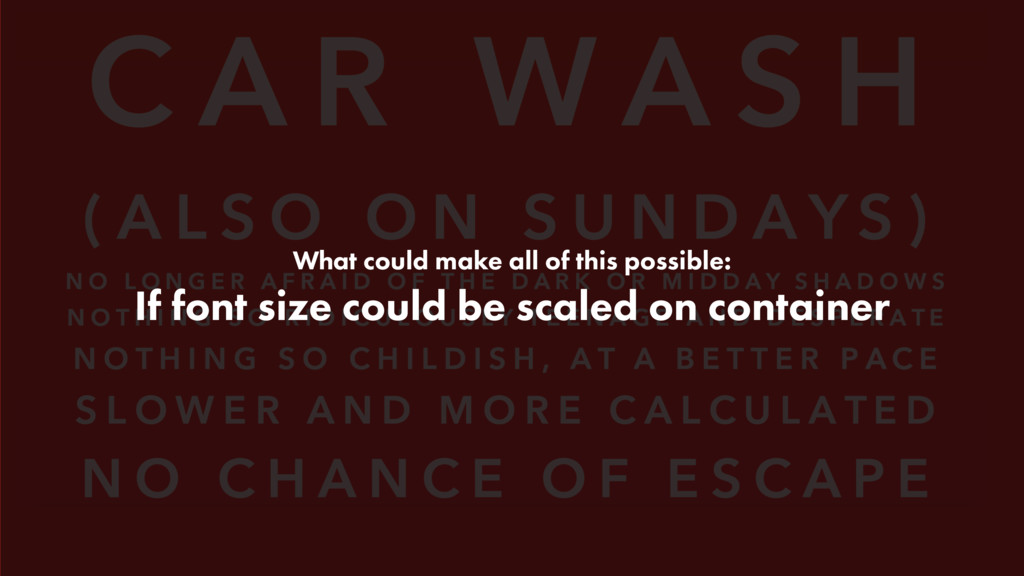 What could make all of this possible: If font s...