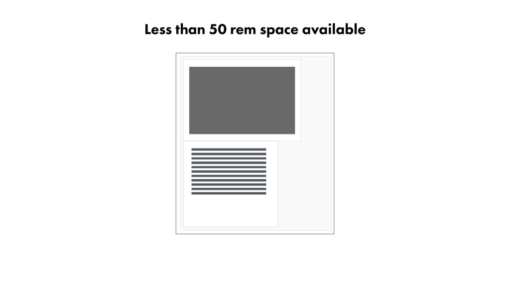Less than 50 rem space available