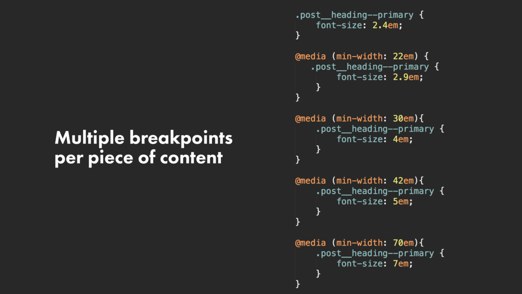 Multiple breakpoints per piece of content