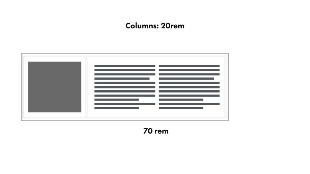 Columns: 20rem 70 rem