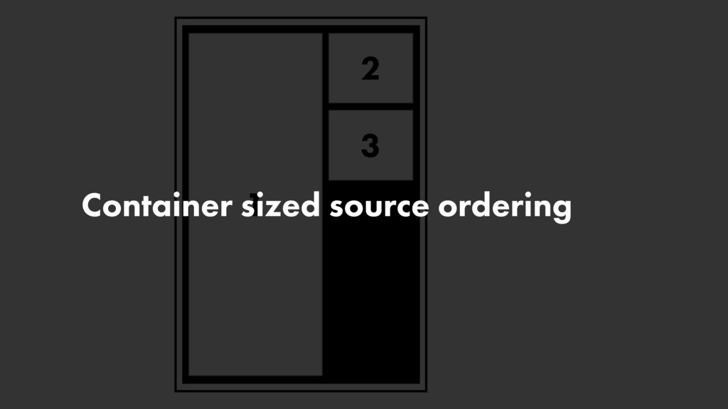 2 1 3 Container sized source ordering