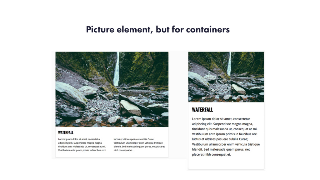 Picture element, but for containers