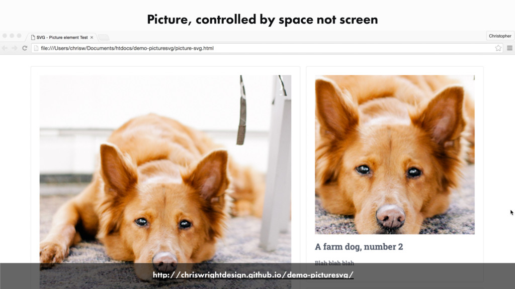 Picture, controlled by space not screen http://...