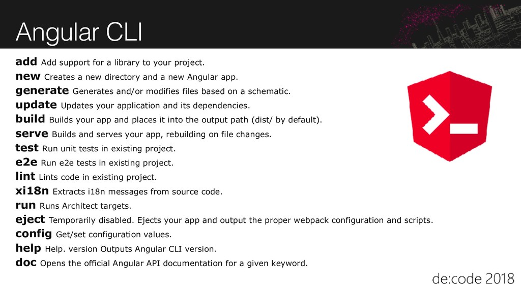 Angular CLI add Add support for a library to yo...