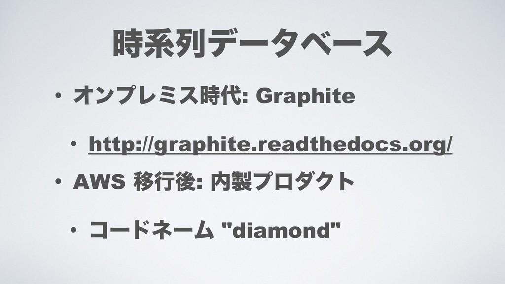 ܥྻσʔλϕʔε • ΦϯϓϨϛε: Graphite • http://graphit...