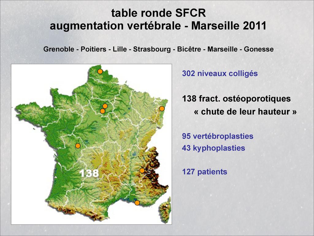 table ronde SFCR augmentation vertébrale - Mar...