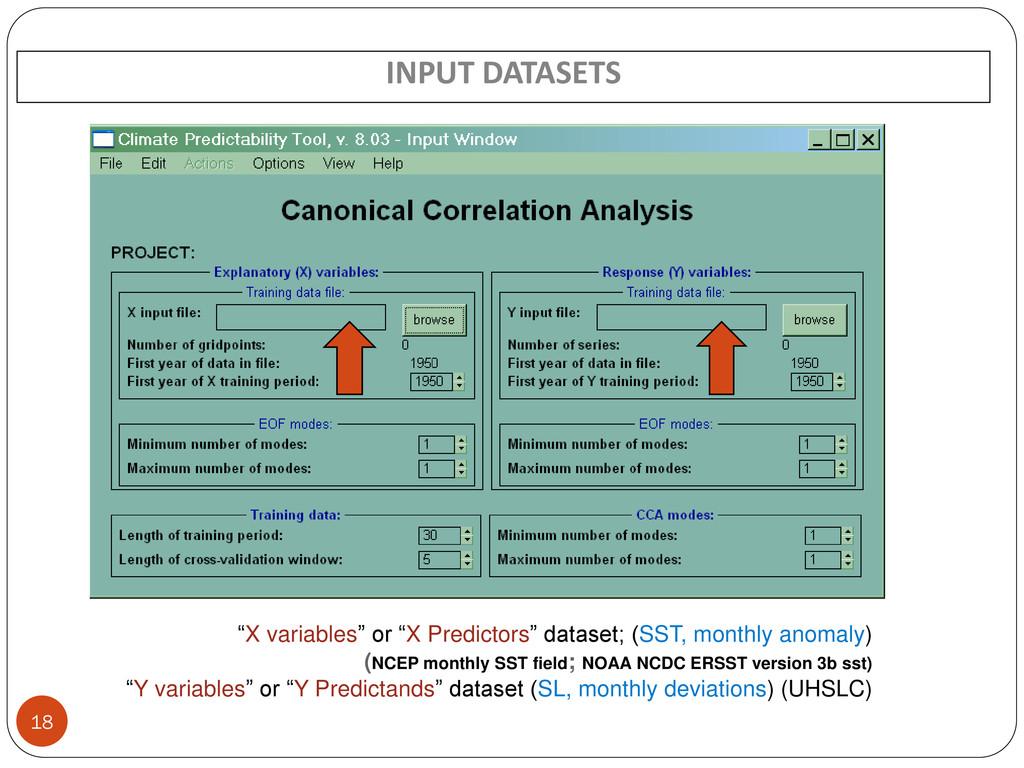 """X variables"" or ""X Predictors"" dataset; (SST, ..."