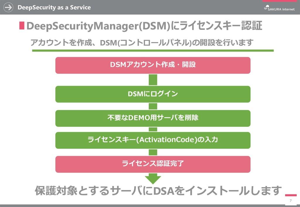 DeepSecurity as a Service 7 ∎DeepSecurityManage...