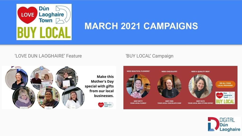 MARCH 2021 CAMPAIGNS 'LOVE DUN LAOGHAIRE' Featu...