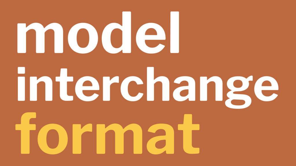 model interchange format