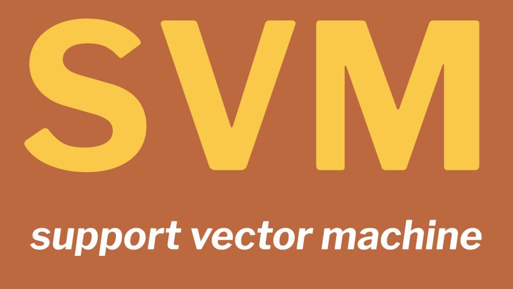 SVM support vector machine