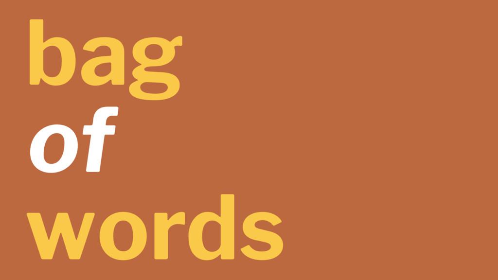 bag of words