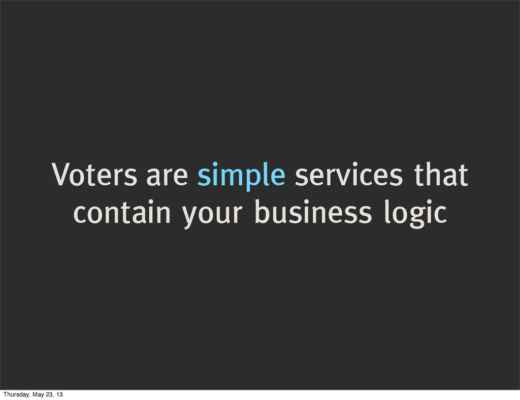 Voters are simple services that contain your bu...