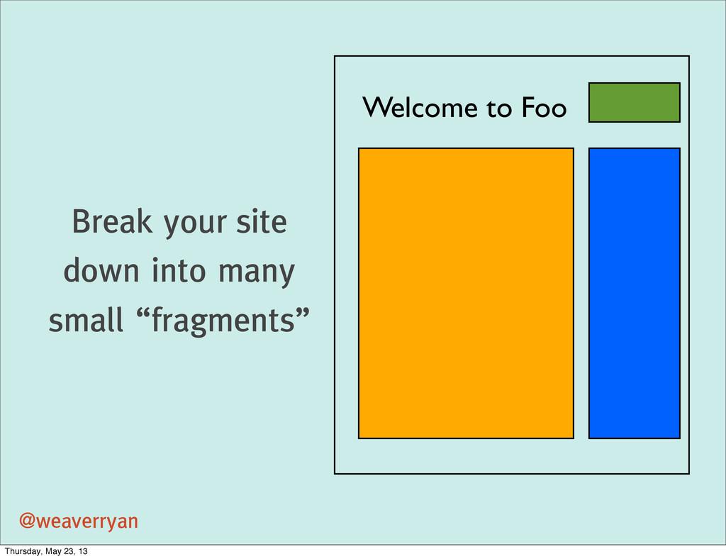 @weaverryan Welcome to Foo Break your site down...