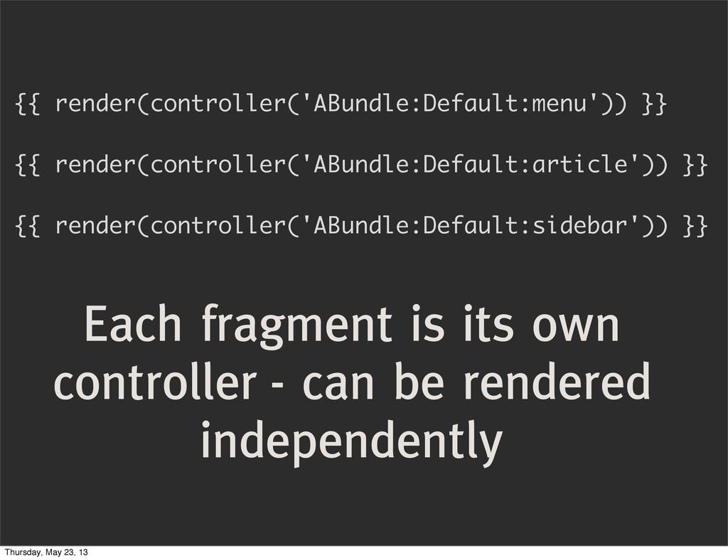 {{ render(controller('ABundle:Default:menu')) }...