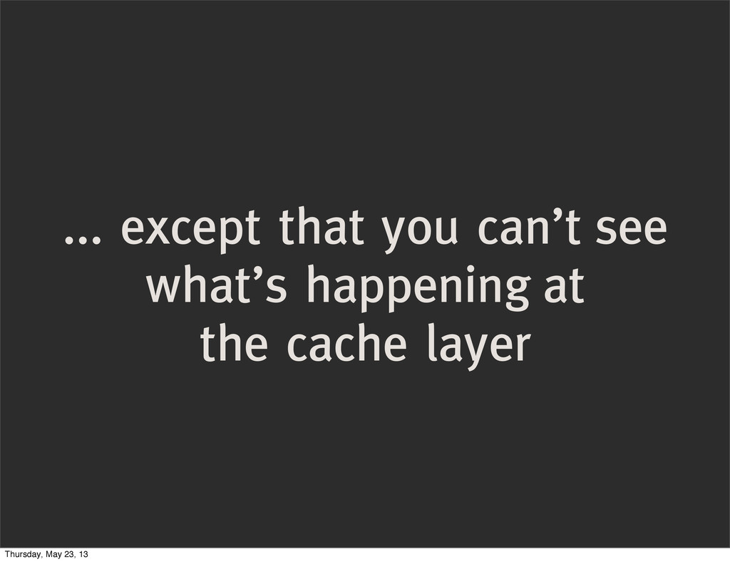 ... except that you can't see what's happening ...