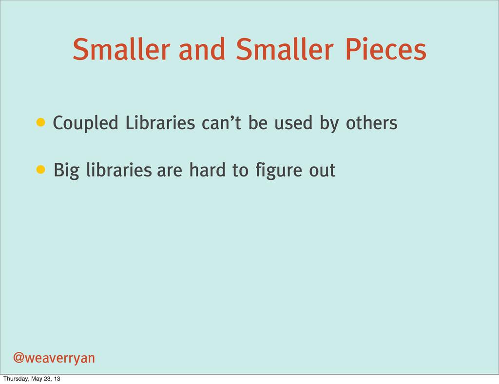 Smaller and Smaller Pieces @weaverryan • Couple...