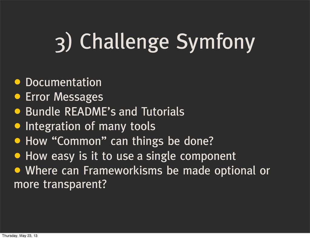 3) Challenge Symfony • Documentation • Error Me...