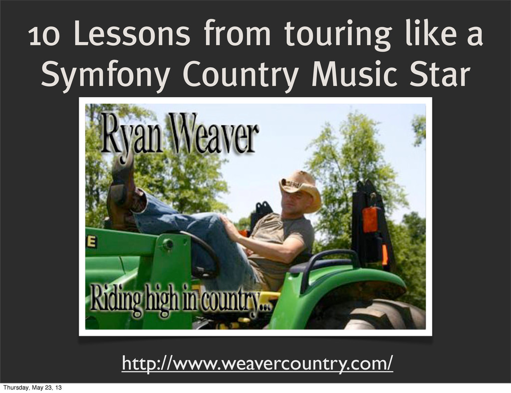 10 Lessons from touring like a Symfony Country ...