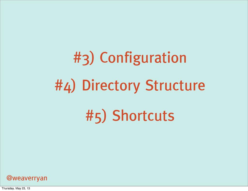 #3) Configuration @weaverryan #4) Directory Str...