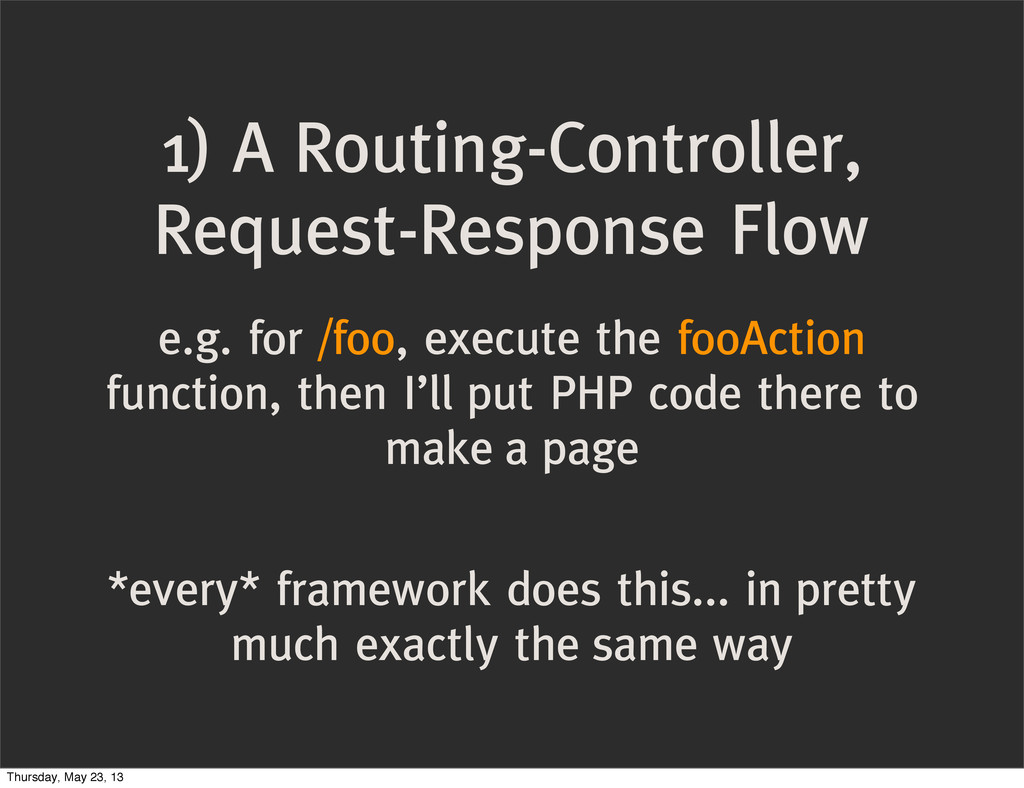 1) A Routing-Controller, Request-Response Flow ...