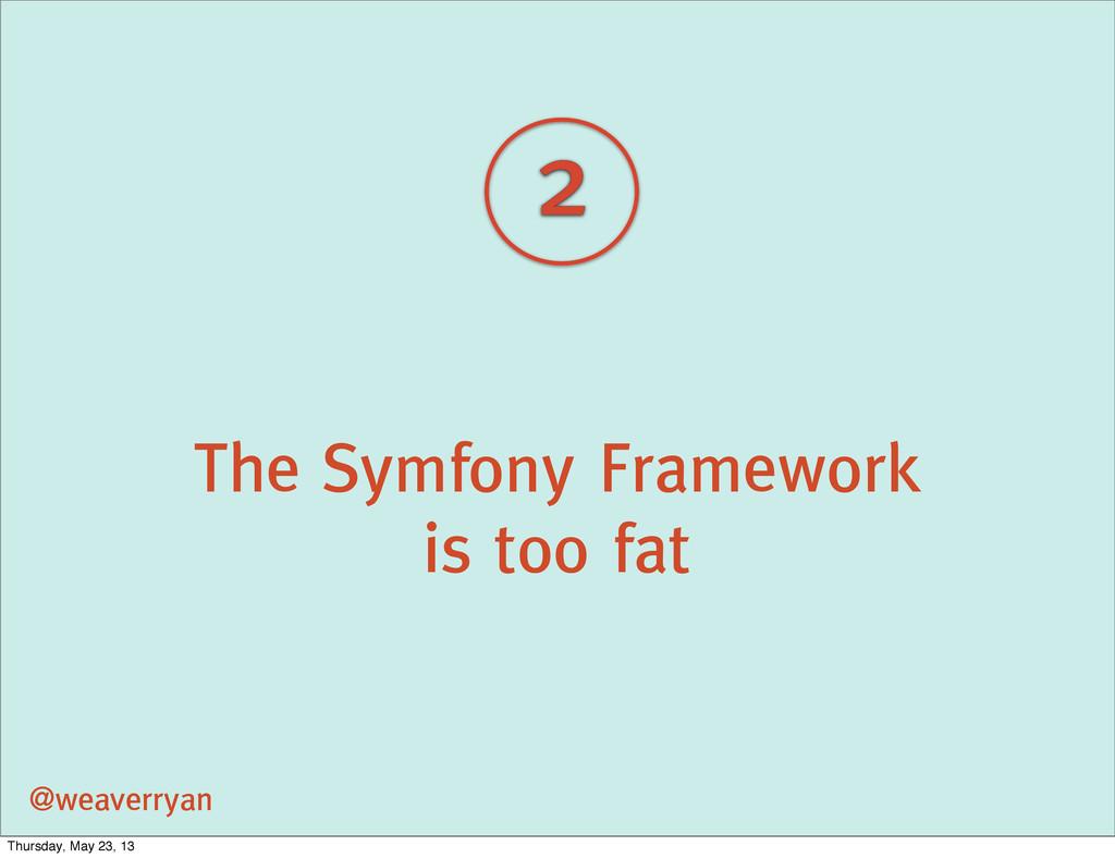 The Symfony Framework is too fat @weaverryan 2 ...